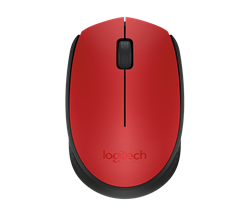 MOUSE LOGITECH M170 WIRELESS RED BLACK 004639