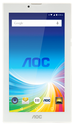 "TABLET. 7"" AOC 3G GOLD INTEL ATOM ANDROID 5.1 1GB 8GB CAMARA 0.3+2 MP"
