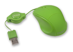 MOUSE NOGA MINI RETRACTIL VERDE 418VR