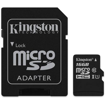 TARJETA DE MEMORIA 16GB MICROSD KINGSTON CLASS 10