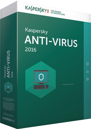 SOFTWARE KASPERSKY ANTIVIRUS 2016 1 PC