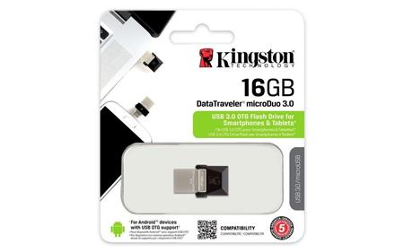 PENDRIVE OTG 16GB KINGSTON DTDUO3 USB 3.0