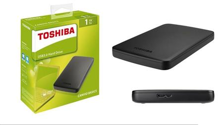 DISCO RIGIDO EXT 1TERA TOSHIBA CANVIO BASICS USB 3.0