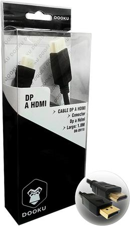 CABLE DOOKU DK-DH18 DISPLAY PORT A HDMI GOLD 24K 1.8 MTS
