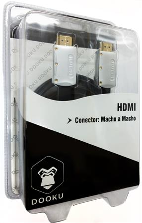 CABLE DOOKU DK-HFS20 HDMI A HDMI HIGH SPEED WHITH ETHERNET GOLD 2 MTS