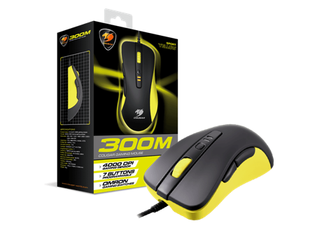 MOUSE COUGAR 300M YELLOW USB
