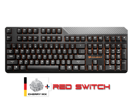 TECLADO MECANICO COUGAR ATTACK 2 RED USB