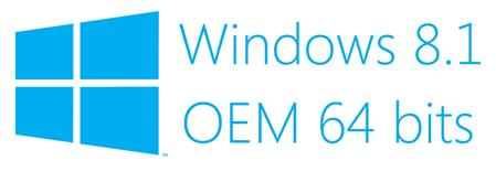 SOFTWARE WINDOWS 8.1 64 BITS OEM (PARA EQUIPOS )