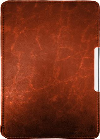 FUNDA EREADER KINDLE PAPERWHITE CUERO MARRON MAGNETIZADA