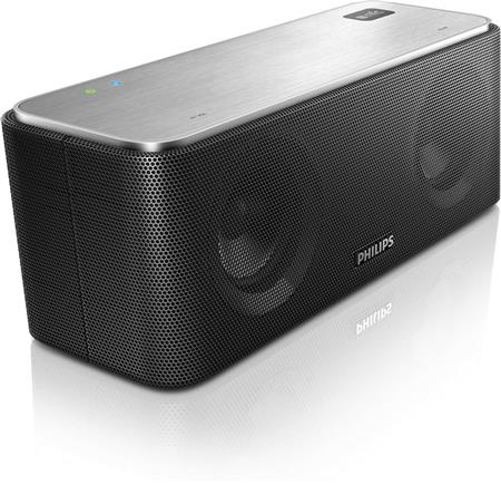 PARLANTES PHILIPS SB365/37 BLUETOOTH AAC Y NFC METALICO