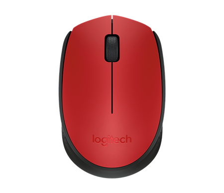 MOUSE LOGITECH M170 WIRELESS RED 004941