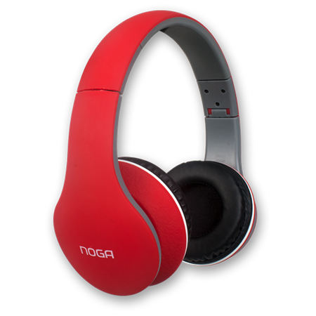 AURICULAR NOGA X-2550RJ FIT COLOR ROJO PC/MP3