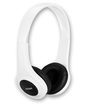 AURICULAR NOGA X-4600BL FIT COLOR BLANCO RUBBER