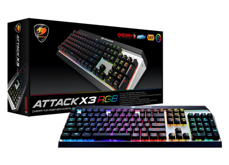 TECLADO MECANICO COUGAR ATTACK BROWN X3 RGB USB