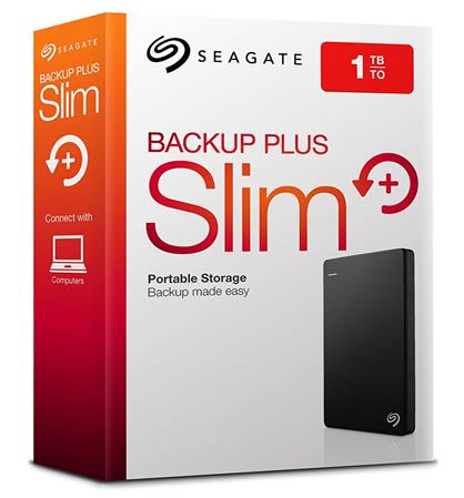 DISCO RIGIDO EXT 1TERA SEAGATE BACKUP PLUS SLIM BLACK USB 3.0
