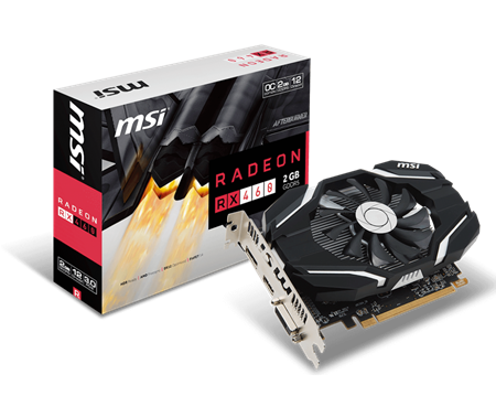 PLACA DE VIDEO RADEON MSI RX 460 OC 2GB GDDR5 128bit PCIE