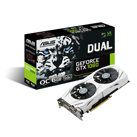 PLACA DE VIDEO GF ASUS GTX 1060 DUAL OC 6GB GDDR5 192bit PCIE