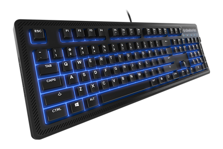 TECLADO STEELSERIES APEX 100 BLUE LED MEMBRANA