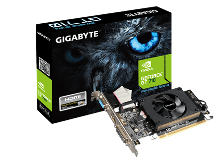 PLACA DE VIDEO GF GIGABYTE GT710 DDR3 2GB 64bit PCIE