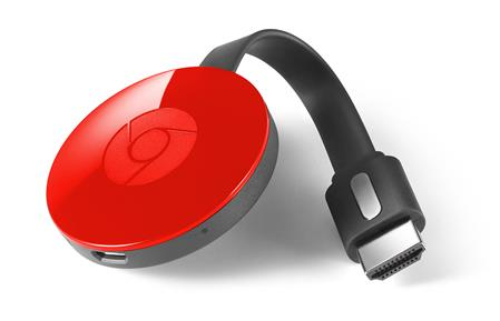GOOGLE CHROMECAST 2 1080P 2.4/5GHZ STREAMING MEDIA PLAYER S/FUENTE ROJO