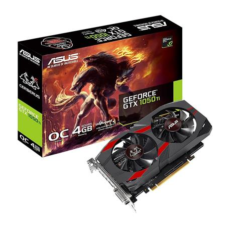 PLACA DE VIDEO GF ASUS GTX 1050Ti CERBERUS 4GB GDDR5 PCIE