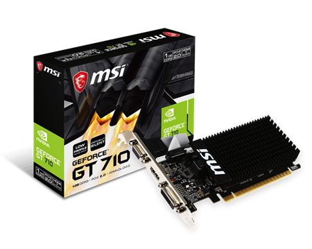 PLACA DE VIDEO LP GF MSI GT 710 1GB DDR3 64bit PCIE