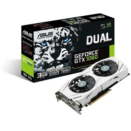 PLACA DE VIDEO GF ASUS GTX 1060 DUAL OC 3GB GDDR5 192bit PCIE