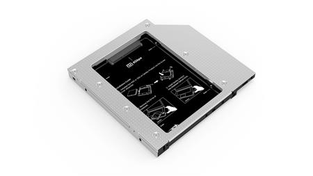 CADDY SENTEY LS-6330 ALUMINIO ADAPTADOR SSD/HDD A ODD NOTEBOOK 12MM