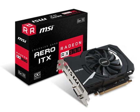 PLACA DE VIDEO RADEON MSI RX 550 AERO ITX OC 2GB GDDR5 128bit PCIE