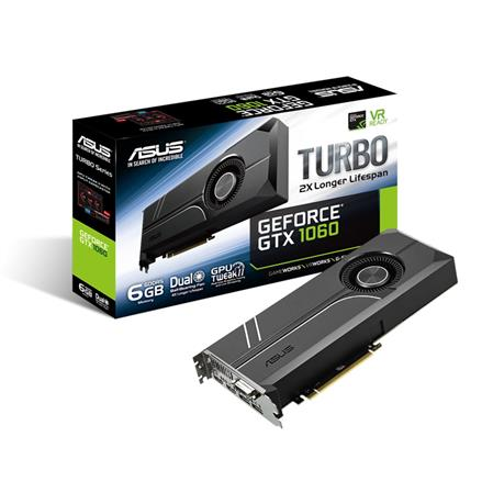 PLACA DE VIDEO GF ASUS GTX 1060 TURBO 6GB GDDR5 192bit PCIE