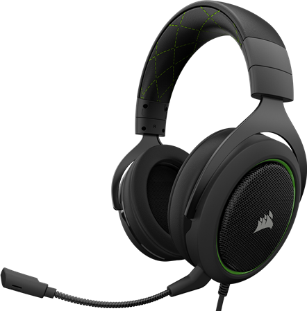 AURICULAR C/MIC VINCHA CORSAIR HS50 GAMING GREEN