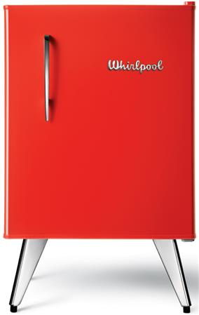 HELADERA COMPACTA 76 LTS WHIRLPOOL WRA09 RETRO VINTAGE RED ROJA
