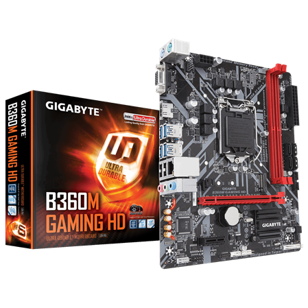 MOTHERBOARD GIGABYTE B360M GAMING HD 1151
