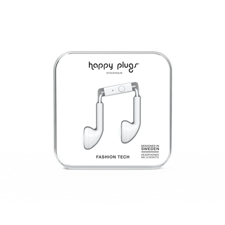 AURICULAR C/MIC EARBUD HAPPY PLUGS EARBUD WHITE
