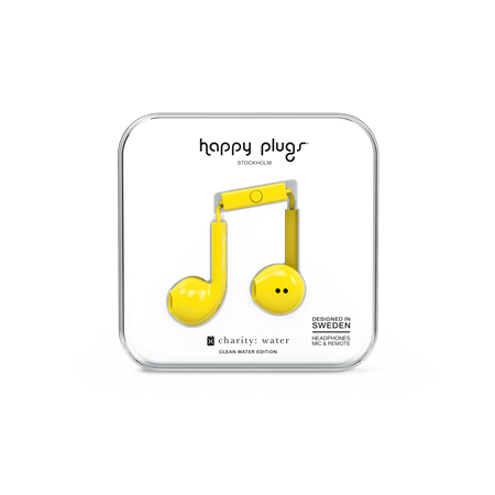AURICULAR C/MIC EARBUD HAPPY PLUGS EARBUD PLUS YELLOW