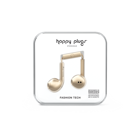 AURICULAR C/MIC EARBUD HAPPY PLUGS EARBUD PLUS CHAMPAGNE
