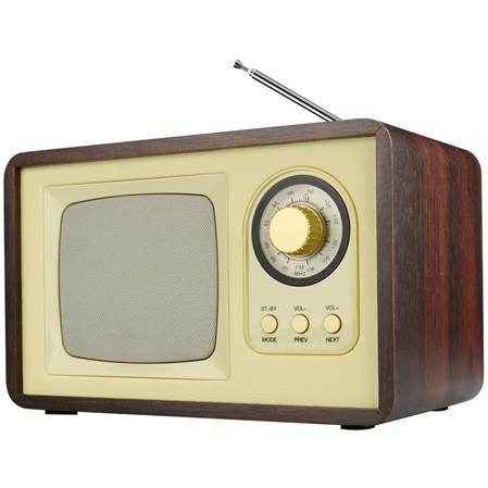 RADIO WINCO W1570 VINTAGE BLUETOOTH RETRO USB SD MADERA