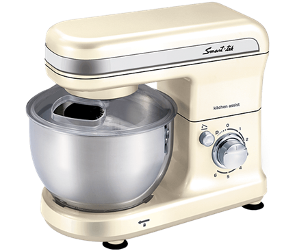 BATIDORA SMART-TEK KITCHEN ASSIST MARFIL BOWL METALICO 600W 4L/1.5KG