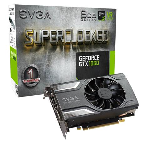 PLACA DE VIDEO GF EVGA GTX 1060 SC GAMING ACX 2.0 6GB GDDR5 192bit PCIE 06G-P4-6163-KR