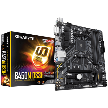 MOTHERBOARD GIGABYTE B450M DS3H AM4