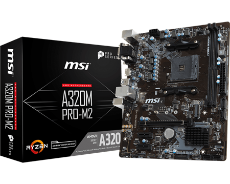 MOTHERBOARD MSI A320M PRO-M2 AM4