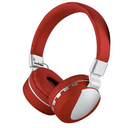 AURICULAR WIRELESS C/MIC VINCHA MPLSBO MS-K9 NOISE CANCELLING TF CARD FM MP3 RED