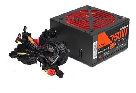 FUENTE 750W LNZ ZX75O-LS FAN 120MM