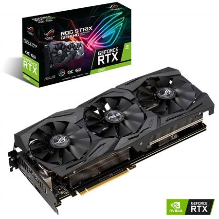 PLACA DE VIDEO GF ASUS RTX 2060 ROG STRIX OC 6GB GDDR6 192bit PCIE