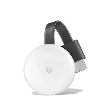GOOGLE CHROMECAST 3 1080P 2.4/5GHZ STREAMING MEDIA PLAYER BLUETOOTH C/FUENTE WHITE