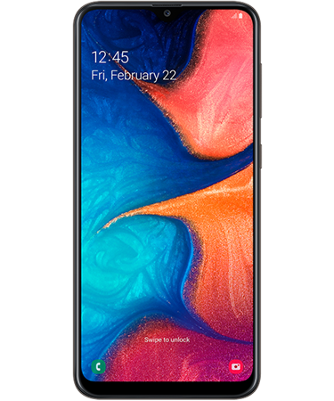 CELULAR SAMSUNG GALAXY A20 32GB 3GB BLACK
