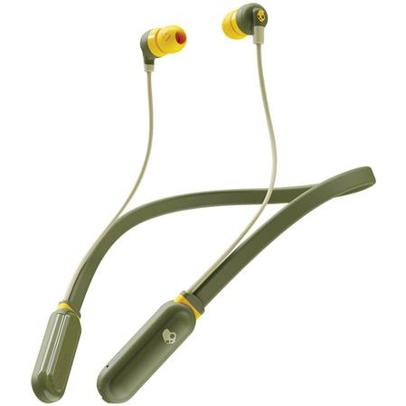 AURICULAR WIRELESS C/MIC INEAR SKULLCANDY INK'D PLUS S2IQW-M687 BLUETOOTH OLIVE/YELLOW