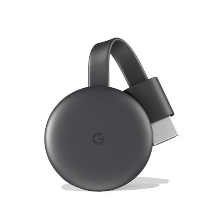 GOOGLE CHROMECAST 3 1080P BLUETOOTH STREAMING MEDIA PLAYER C/FUENTE BULK