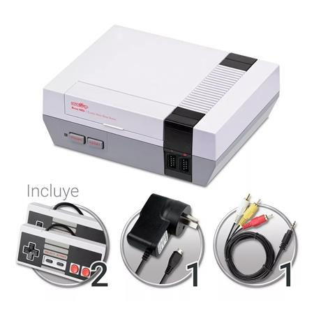 CONSOLA LEVEL UP RETRO NES FAMILY AV TV 500 JUEGOS INCLUIDOS 2 JOYSTICK