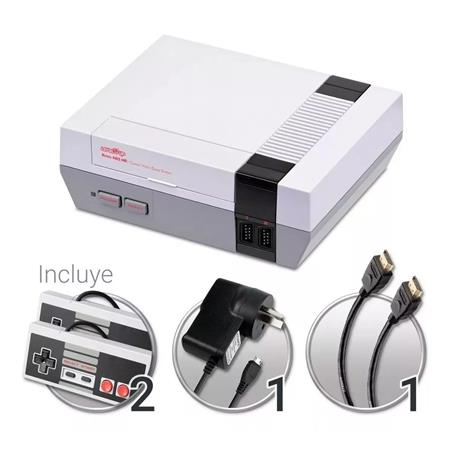 CONSOLA LEVEL UP RETRO NES FAMILY HDMI 500 JUEGOS INCLUIDOS 2 JOYSTICK